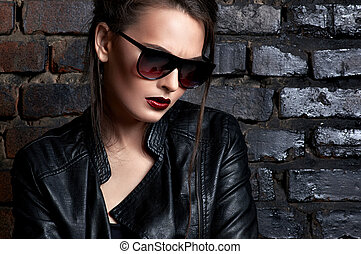 Fashionable girl - Beautiful and stylish girl