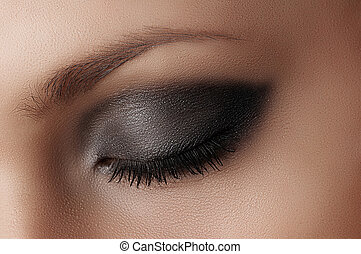 Eye makeup. - beautiful makeup