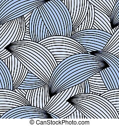 Seamless white and black pattern. vector
