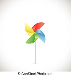 Pinwheel Illustration - Illustration of a colorful pinwheel...