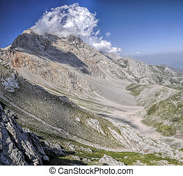 Kyrgyzstan - Picturesque mountain in Kyrgyzstan, with...