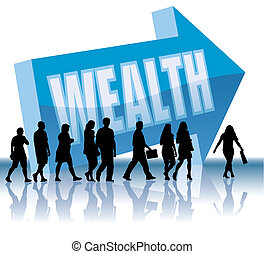 Direction - Wealth - People are going to a direction -...