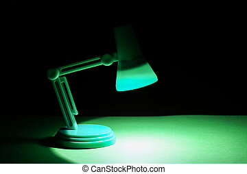 Isolated Desk lamp with copyspace or room for product...