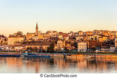 View of Belgrade from the Sava river - Serbia