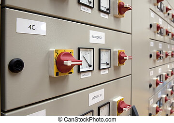 Cubicles electrical panel - Electrical panel made from...