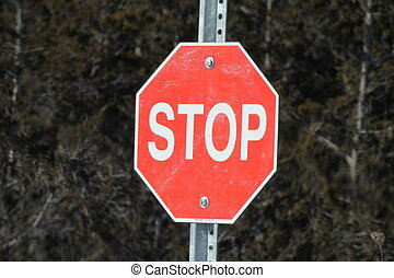 Stop Sign-Red