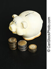 Moneybox - Finance, piggy Moneybox on the table