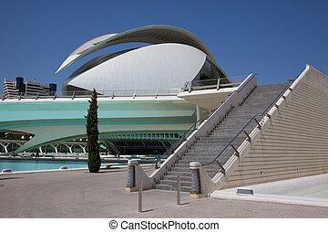 Palau de les Arts Reina Sofia in Valencia. Spain