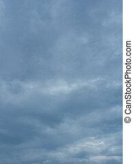 Dark cloudy sky.