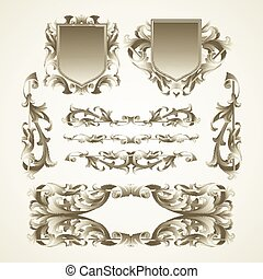 Antiquated ornate patterns Vector illustration EPS 10