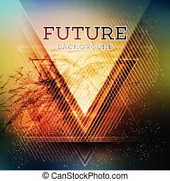 Abstract triangle future vector