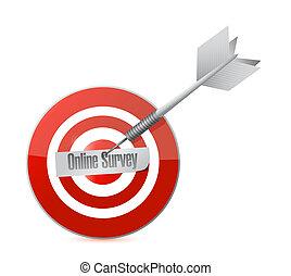 online survey target illustration design