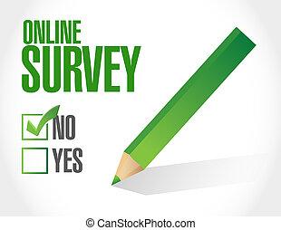 no online survey illustration design
