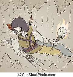 Torch warrior - Creative design of Torch warrior