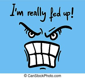 Angry face - Creative design of Angry face