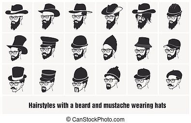 hairstyles with a beard and mustache wearing glasses wearing...