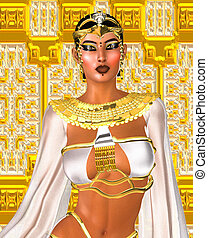 White Queen. Egyptian digital art. - White Queen. Egyptian...