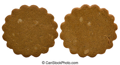 Two Brown Christmas Cakes - isolated - Brown Christmas cakes...