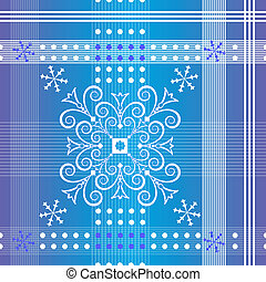 Seamless christmas section pattern (vector)