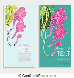 banner with abstract floral pattern