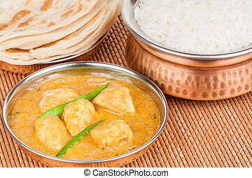 Indian Chicken Curry Meal - Indian chicken curry meal with...