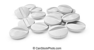 tabletas, o, píldoras