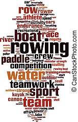 Rowing word cloud concept Vector illustration