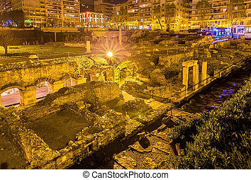 Roman Forum, Ancient Greek Agora in Thessaloniki, Greece