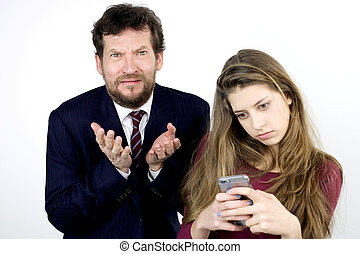 Desperate father with daughter addicted to cell phone -...