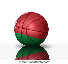 belorussian basketball - Basketball ball with the national...