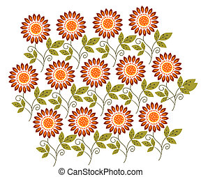 flower pattern - a vivid illustration of flower pattern...