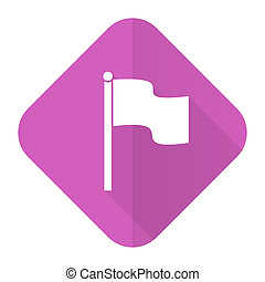 flag pink flat icon