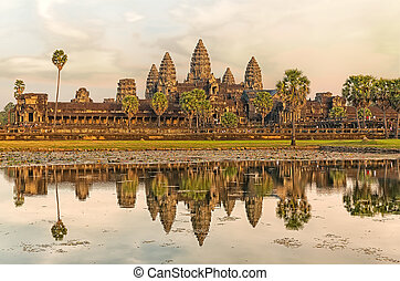 Angkor Wat - Iconic Angkor Wat reflecting in Lake, Siem...