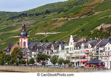 Zell, Germany - Zell is a city on the banks of the Moselle,...