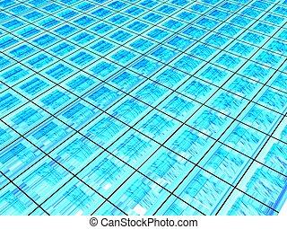 3D Blue Grid