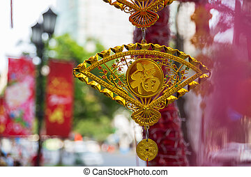 Lunar New Year Decoration in Saigon, Vietnam
