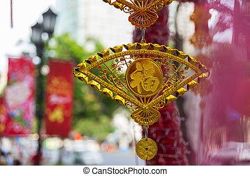 Lunar New Year Decoration in Saigon, Vietnam