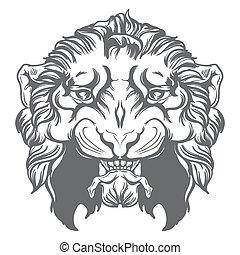 Tiger head vector illustration.