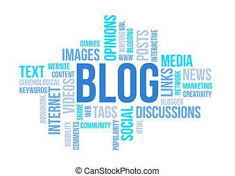 concept, Illustration, Diagramme, blog, impression,...