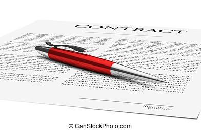 penna, contratto