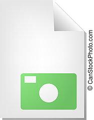 Photo document icon