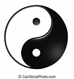 Ying Yang - Isolated - Ying Yang symbol on a white...