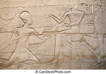 Relief in Precinct of Amun-Re - Detail of relief on the wall...