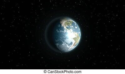 earth intro - intro with earth and stripes