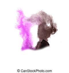 Blot divorce illustration pink, black artist of handwork is...