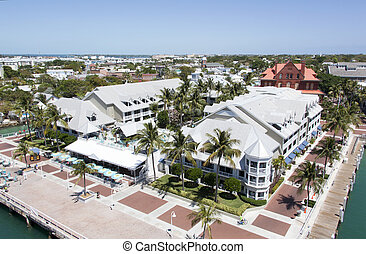Key West - The view of Key West downtown, the southernmost...