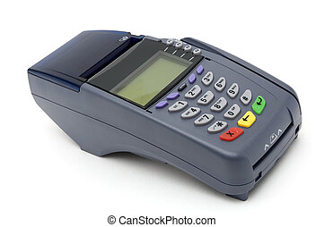 POS-terminal - Modern POS terminal with magnetic stripe and...