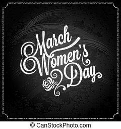 8 march women day chalk background