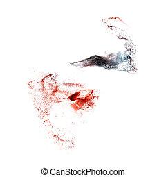 Blot black, red divorce illustration artist of handwork is...