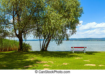 Lake Balaton in Hungary in summer